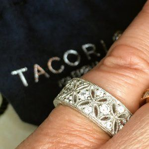 Tacori Silver and CZ Vintage Forever Band